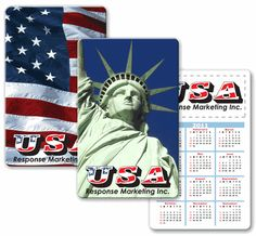 Lenticular calendar card with Statue of Liberty and USA American flag, flip from Lantor, Ltd. 3D Lenticular Printers: This 2.125 x 3.375 inch calendar card CA01-224, with its exciting Lenticular flip effect, makes a great real estate-themed promotional product. The calendar card's face features a flip effect between images of the USA flag and the Statue of Liberty. - See more at: http://www.lenticularpromo.com/Calendar-Card-p/ca01-224.htm#sthash.OEhQxKuN.dpuf