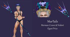 Merchant: MurTails Prize Name: Merman Crown & Trident Prize Type: Accessory Merman, Trident, Names, Crown, Type, Movies, Movie Posters, Corona, Film Poster