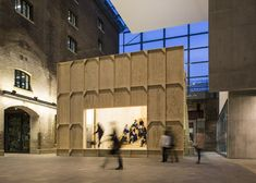 A Habitable Billboard | British artist Richard Wentworth has collaborated with Swiss architects GRUPPE to build a pop-up wooden auditorium in the atrium of Central Saint Martins art and design college | London