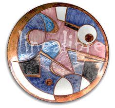 técnica: Esgrafiado directo pintado con pigmentos - esmaltado a fuego sobre cobre (valeria serrudo)