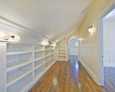 Attic Walk-In Closets   turn your attic into a huge walk in closet.   shabby & chic home.