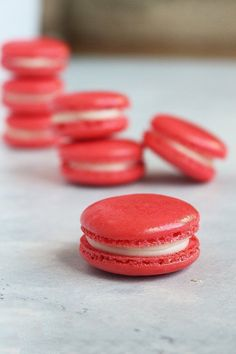 Cherry Cheesecake Macaron Recipe   Kara's Couture Cakes