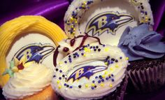 Official Ravens Cupcakes from Charm City Cupcakes