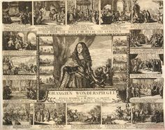 A broadside on the life and political rise of William Henry of Nassau; with an etching by de Hooghe showing 17 images, in the centre a portrait of William Henry in armour, flanked on each side with a row of five small images illustrating his military career, the central image framed with a garland; around the central image 16 scenes showing different stages of William Henry's life, from the death of his father William II of Orange in 1650, to his installment as Stadtholder of the United Province William And Mary, Prince William, Framed Art Prints, Poster Prints, Canvas Prints, Posters, Defender Of The Faith, Tragic Love Stories, Old Hickory