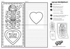 Free Printable - Valentine - PopUp Card - Gratis download - Valentijnskaart - Totum