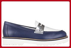 Hogan women's leather loafers moccasins rute traversina blu US size 6 HXW2590U100C9F0IQ7