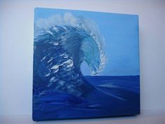 How to Paint Ocean Waves Painting Tips, Painting Techniques, Beach Watercolor, Beach Scenes, Ocean Waves, Paint Designs, Mixed Media Art, Cool Art, Artsy