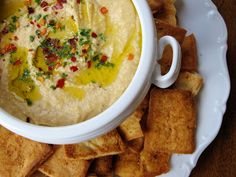 Copycat recipe for Trader Joe's Mediterranean Hummus!
