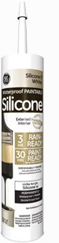 GE Silicone II* Paintable Silicone Use in wholes drilled in stucco to prevent water penetration