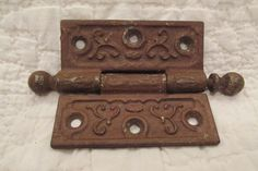Vintage Cast Iron Ornate Ball Hinge by rarefinds4u on Etsy