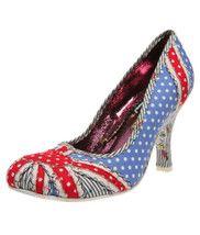 Patty Union Jack Shoe in Blue Spot