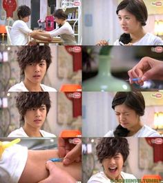 aww I feel sorry for him but love how he volunteered - playful kiss youtube special