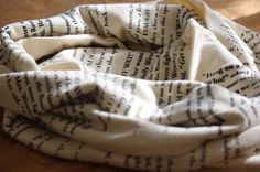 Literature Scarf. Giveaway on blog! Press photo!    Credit: Sartorial Spice
