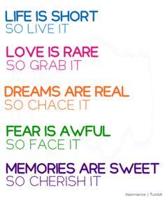 LIFE, LOVE, FEAR, DREAMS, MEMORIES♥
