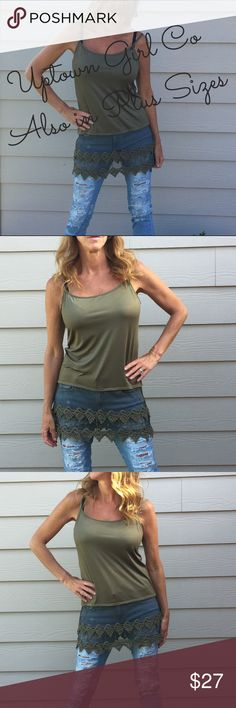 """Shirt Extender, Lace Shirt Extender, Lace Tank Top Shirt Extender size chart women's sizing  up to size 6 small/medium 8/10 L 12 XL 14/16 XXL 18/20 3XL Estimated measurements for my tops this is measuring flat across and times 2                              S/M      L        XL      2XL   3XL  BUST   ................33""""     35""""      37""""    39""""    43""""        Hips     ................39      42""""      44""""   46""""     48""""            Bottom of lace ...41""""     43""""      46""""    48""""     50""""     From…"""