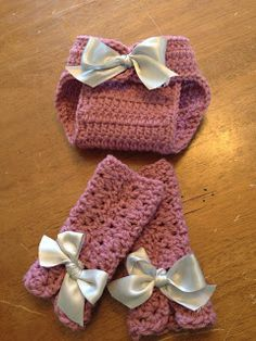 Crochet newborn photography prop ~diaper cover and leg warmer patterns!! ~Couture Unraveled~