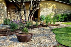 Rock garden design ideas fascinating popular of front yard landscaping with rocks small decorating meaning in . rock garden design ideas for gardens Gravel Landscaping, Farmhouse Landscaping, Landscaping With Rocks, Front Yard Landscaping, Landscaping Ideas, Florida Landscaping, Tropical Landscaping, Waterfall Landscaping, Front Walkway