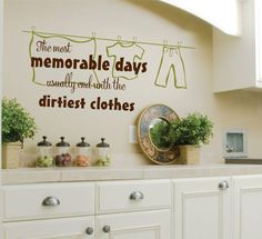 Laundry Room Wall Decal  Laundry Vinyl Wall Decal  by LucyLews, $15.00