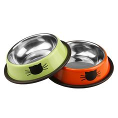 Shinieny Stainless Steel Pet Feeding Food Holder Bowls for Cats Dogs Orange *** Learn more by visiting the image link. (This is an affiliate link and I receive a commission for the sales)