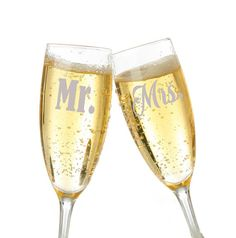 Personalized Champagne Toasting Glasses Set Personalized