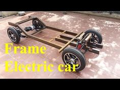 TECH - Electric car with oil disc brakes part 3 - Frame the electric car Electric Car Concept, Electric Cars, Front Door Design Wood, Electric Car Conversion, Goat Farming, Brake Parts, New Trucks, Go Kart, Kit Cars