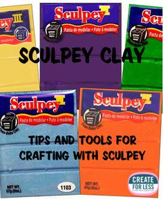Tips for crafting with sculpey clay
