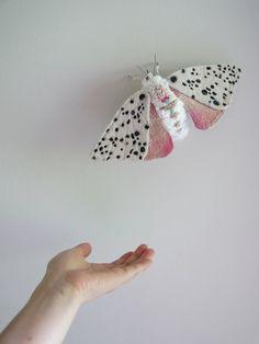 Fabric sculpture -Large moth textile art