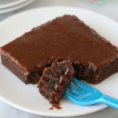 . Rich Dense Chocolate Fudge Cake Recipe from Grandmothers Kitchen.