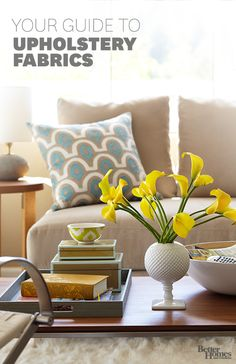Learn everything you need to know about Upholstery Fabric: http://www.bhg.com/decorating/lessons/basics/guide-to-upholstery-fabrics/?socsrc=bhgpin020714upholsteryfabric