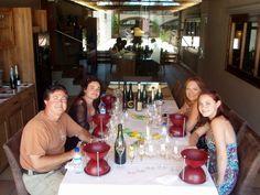 Enjoying our wine tasting at Gramona.