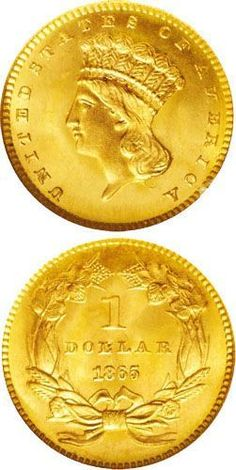 The 1865 gold dollar was the last of the gold dollars produced during the American Civil War. After four years of severe … Gold Bullion Bars, Bullion Coins, Gold Dollar, Gold And Silver Coins, Silver Ring, Silver Jewelry, Coin Store, Gold Money, American Coins