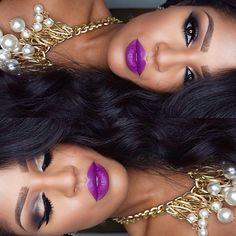 Purple Lipstick for winter nights