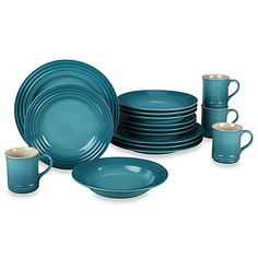 Each piece of Le Creuset dinnerware is crafted in colors that mix and match along with artful details like a brilliant enamel finish that protects from utensil marks and scratches and of course, Le Creuset's signature 3-ring accent along the exterior.