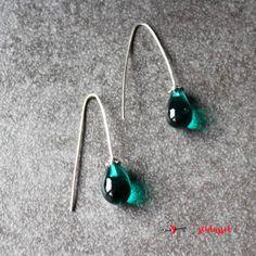 Herzschlüssel: Ohrhänger, Ohrringe, #DIY, lampwork, glass beads, Glasperlen