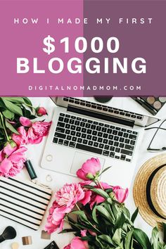 Learn what steps I took to make my first $1,000 blogging. Learn how to make money blogging and learn how to start a blog from scratch. Make Money Blogging, How To Make Money, Online Careers, Passive Income Streams, Display Ads, Making 10, Pinterest Marketing, How To Start A Blog, Thats Not My