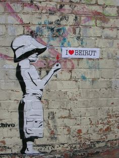 Street art in Beyrouth. I <3 Beirut