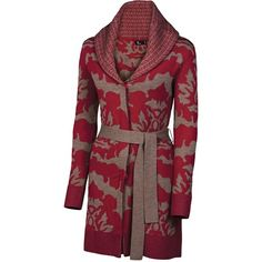 Neve Sophie Long Wrap Cardigan Sweater - Merino Wool (For Women)