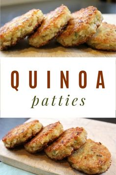 to make Quinoa Patties How to make quinoa patties -- this is a simple and delicious vegetarian recipe.How to make quinoa patties -- this is a simple and delicious vegetarian recipe. Vegetarian Quinoa Recipes, Delicious Vegan Recipes, Veggie Recipes, Healthy Recipes, Vegetarian Cooking, Vegan Food, Bread Recipes, Healthy Foods, Keto Recipes