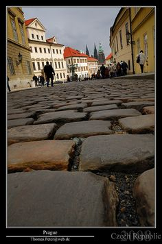 Cobblestones - Prague street photo
