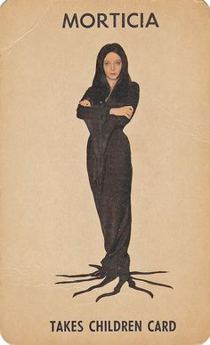 Morticia playing card