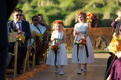 Fall in wine country with two precious flower girls.
