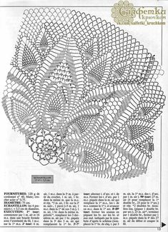 1000 Mailles № 179 — Yandex. Free Crochet Doily Patterns, Crochet Doily Diagram, Crochet Symbols, Crochet Lace Edging, Crochet Borders, Thread Crochet, Crochet Doilies, Diy Crafts Crochet, Crochet Home