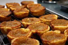 Butter tarts: the Canadian version of pecan tarts.all baked in a homemade pie tart. Decadence in your mouth. Pastry Recipes, Tart Recipes, Baking Recipes, Homemade Butter, Homemade Pie, Peanut Butter Cups, Oreo, Pecan Tarts, Pecan Pies