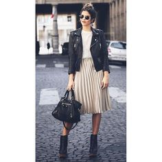 #streetstyle goals ❣❣❣❣ via dear @the.fashionistas.lifestyle  #fashion #style #stylish #love #leatherjacket #photooftheday #beauty #beautiful #instagood #pretty #swag #skirt #pleatedskirt #girl #design #model #dress #shoes #heels #styles #outfit #purse #jewelry #shopping #ootd #outfitoftheday  via ✨ @padgram ✨(http://dl.padgram.com)