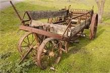 old farm implements -