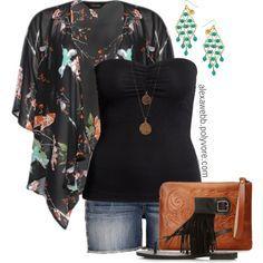 """#plus #size #outfit """"Plus Size - Kimono III"""" by alexawebb on Polyvore"""