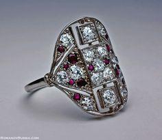 Love Art Deco engagement rings!