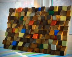 3D Wood Wall Art Reclaimed Wood wall Art wood mosaic by GBandWood
