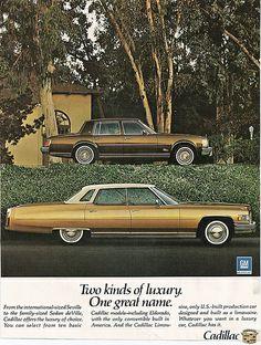 1976 Cadillac Seville and Sedan Deville