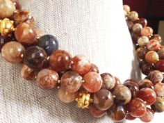 Mexican Fire Opal Statement Necklace by GinnyTaylorDesigns on Etsy, $550.00